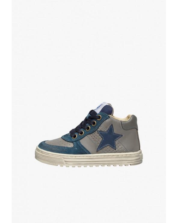 Sneaker alla caviglia con dettagli in suede