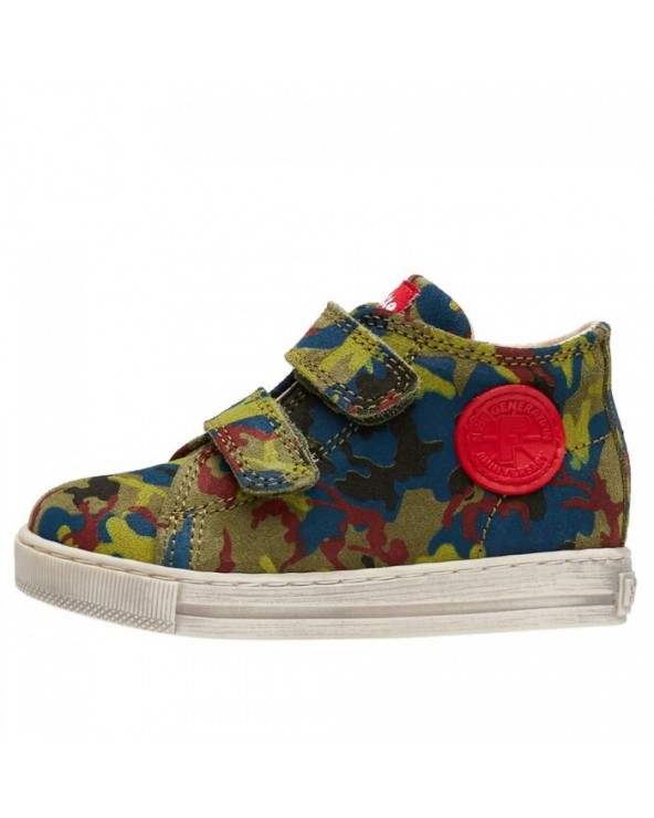 Sneaker in suede stampa camouflage